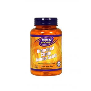 BCAA - Branched Chain Aminoacids - 120 cápsulas - Now Sports