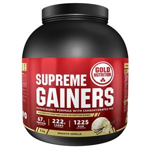 Supreme Gainers Baunilha GoldNutrition - 3kg