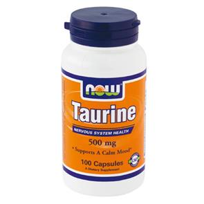 Taurine 500mg - 100 cáps - NOW