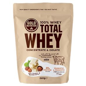 Total Whey Chocolate Branco Avelã GoldNutrition - 260G